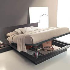 letti contenitore, letto design contenitori, camere moderne, letti ...